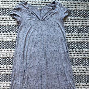Gray T-shirt mini dress (Hollister)